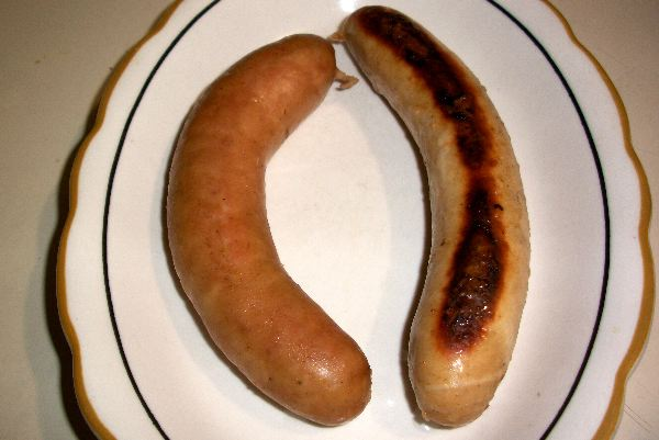 Veal Bratwurst and Knockwurst