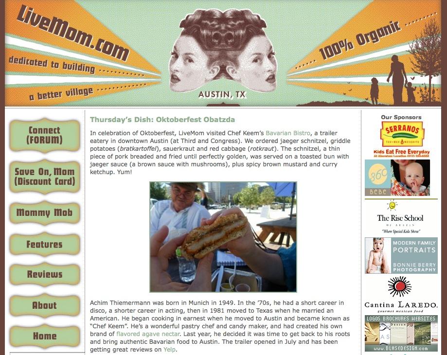 LiveMom Blog Features Chef Keem's Bavarian Bistro